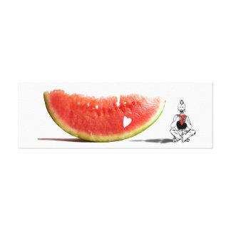 Love my watermelon heart canvas print