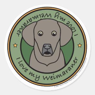 Love My Weim Stickers