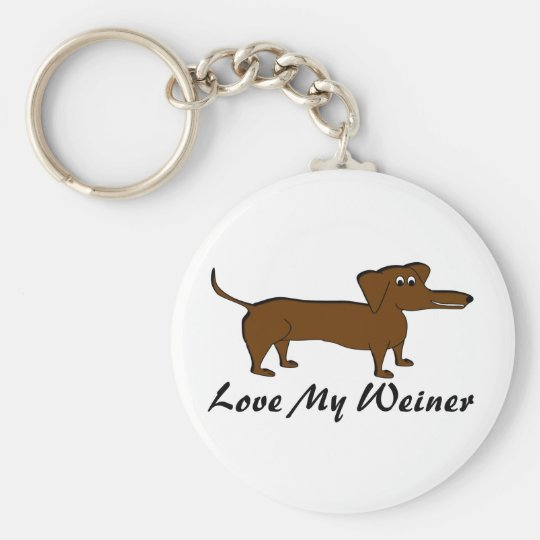 Love My Weiner Dog Products Key Ring