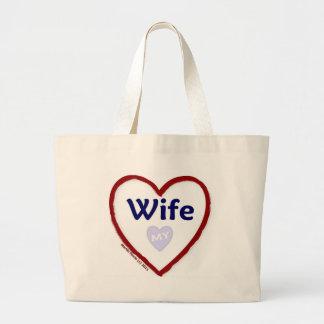 Love My Wife Jumbo Tote Bag