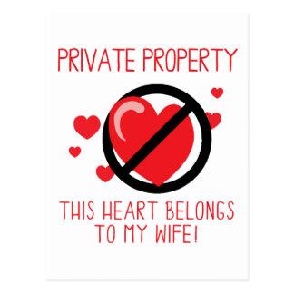Love My Wife Postcard
