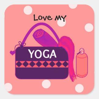 Love my Yoga Square Sticker