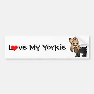 Love My Yorkshire Terrier Bumper Sticker