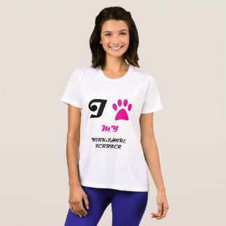 Love My Yorkshire Terrier Paw T-Shirt