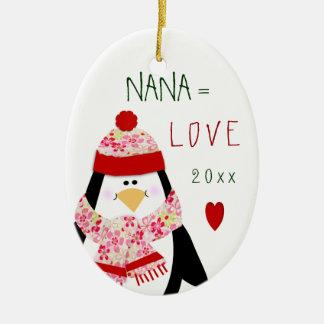 Love NANA Penguin Christmas Gift Christmas Ornament