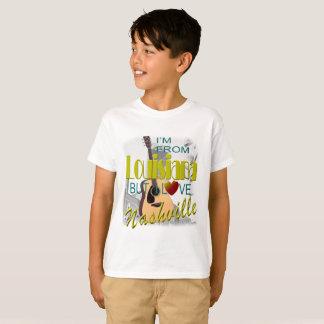 Love Nashville from Louisiana Kid's T-Shirt