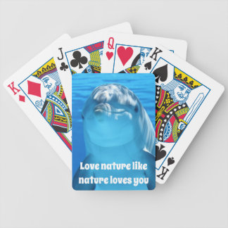 Love Nature Dolphin Playing Cards