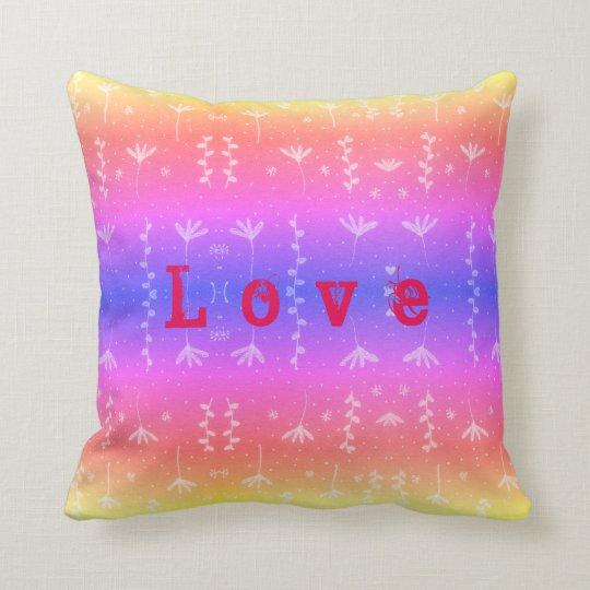 Love nature pattern cushion