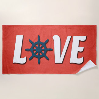 Love nautical design beach towel