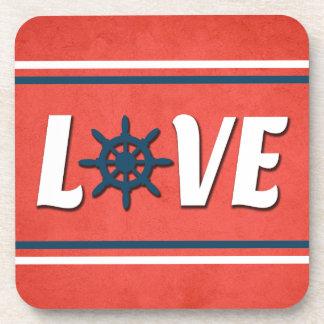 Love nautical design coaster