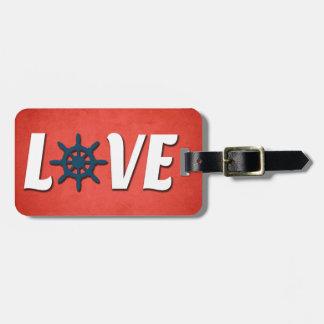 Love nautical design luggage tag