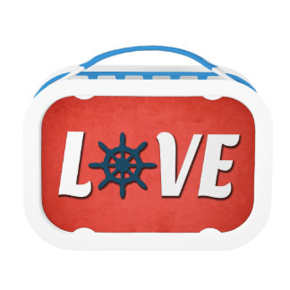 Love nautical design lunch box