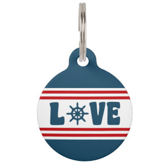 Love nautical design pet name tag