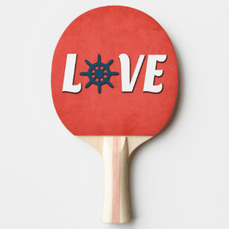 Love nautical design ping pong paddle