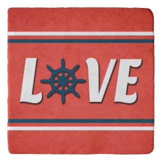 Love nautical design trivet