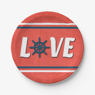 Love nautical paper plate