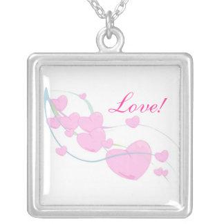 Love! Square Pendant Necklace