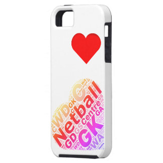 Love Netball Heart Design iPhone 5 Cover