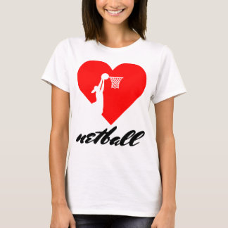 Love Netball Heart Design T-Shirt
