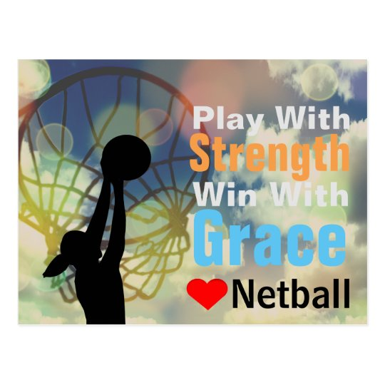 Love Netball Motivational Quote Postcard