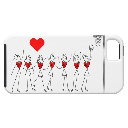Love Netball Positions and Heart Design iPhone 5
