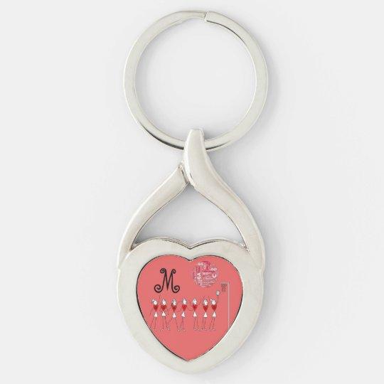 Love Netball Positions Design Key Ring