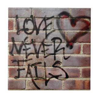 Love Never Fails Graffiti Tile