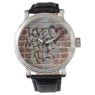 Love Never Fails Graffiti Watch