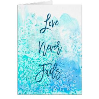 Love Never Fails - Greeting Card