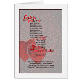 Love Never Fails - I Corinthians 13 Card