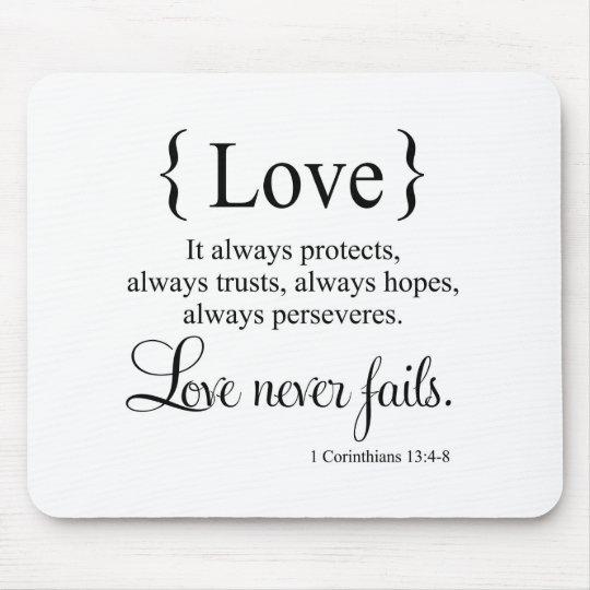 Love Never Fails Mouse Mat
