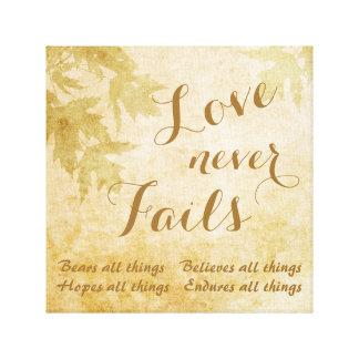 Love Never Fails Nature Canvas Print