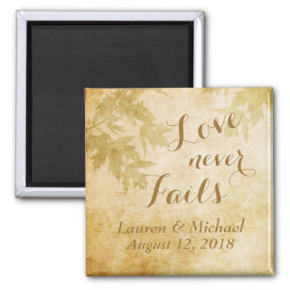 Love Never Fails Nature Square Magnet