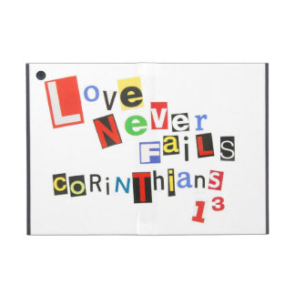 Love Never Fails Ransom Note Style iPad Mini Cover