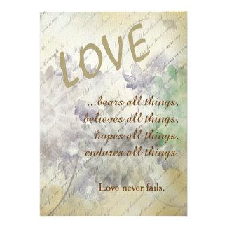 Love Never Fails Wedding Invitations