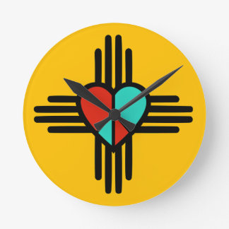 Love, New Mexico, Peace Round Clock