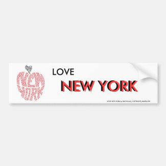 LOVE NEW YORK BUMPER STICKER