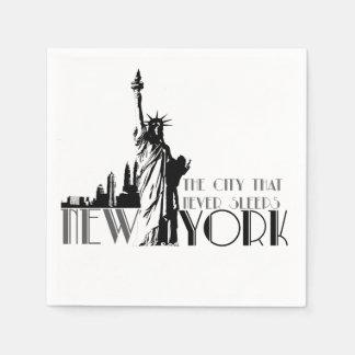 Love New York Disposable Napkins