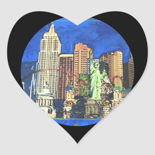 Love New York Heart stickers