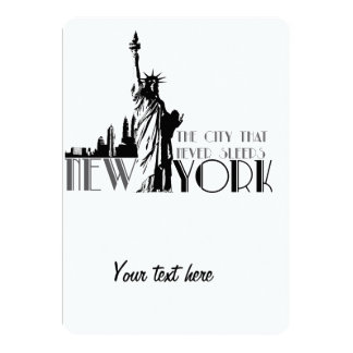 Love New York 13 Cm X 18 Cm Invitation Card
