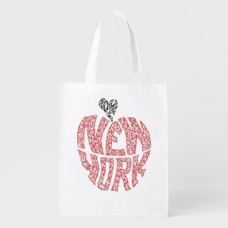LOVE NEW YORK REUSABLE GROCERY BAG