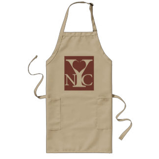 Love New York white Long Apron