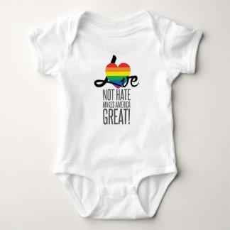 Love Not Hate (Rainbow) Baby Bodysuit