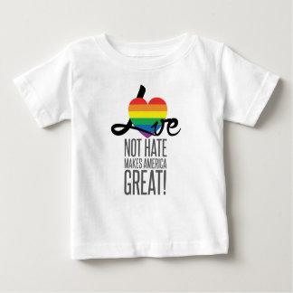 Love Not Hate (Rainbow) Baby Jersey T-Shirt