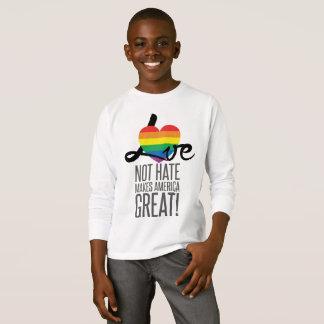 Love Not Hate (Rainbow) Boy's Long Sleeve T-Shirt
