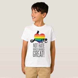 Love Not Hate (Rainbow) Boy's T-Shirt