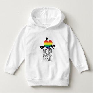 Love Not Hate (Rainbow) Toddler Hoodie
