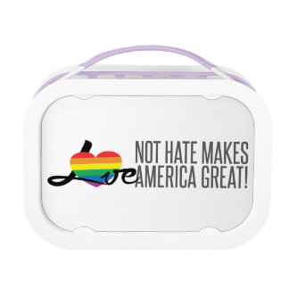 Love Not Hate (Rainbow) Yubo Lunchbox