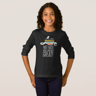 Love Not Hate (SWM) Girl's Dark Long Sleeve Tee