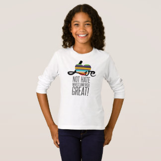 Love Not Hate (SWM) Girl's Long Sleeve T-Shirt